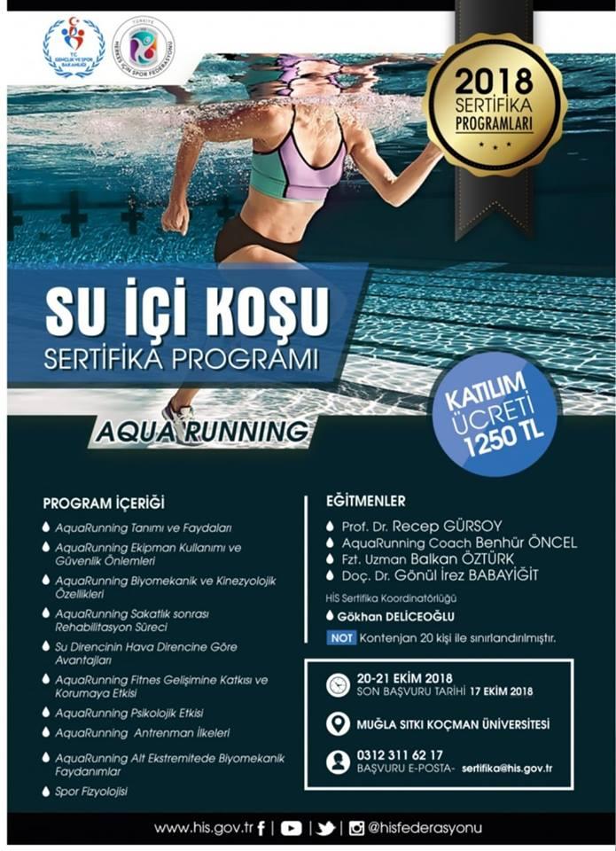 aqua running suda koşu seminer
